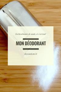 Mon déodorant: du bicarbonate de soude, et c'est tout!