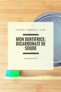 Mon dentifrice: bicarbonate de soude