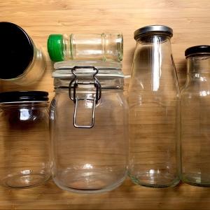 Contenants en verre (récup + neuf)