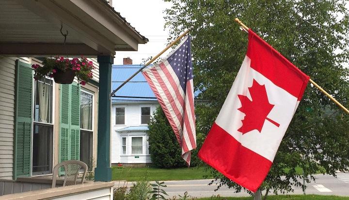 Drapeau USA/CANADA
