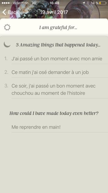 Journal de gratitudes